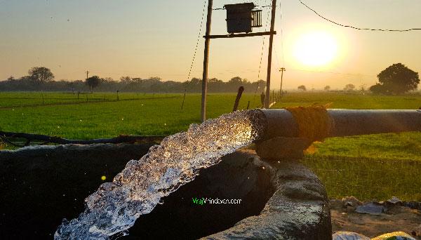 Water pump in field of Vrindavan