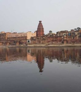 Yamuna Ji flowing at Keshi Ghat in Vrindavan