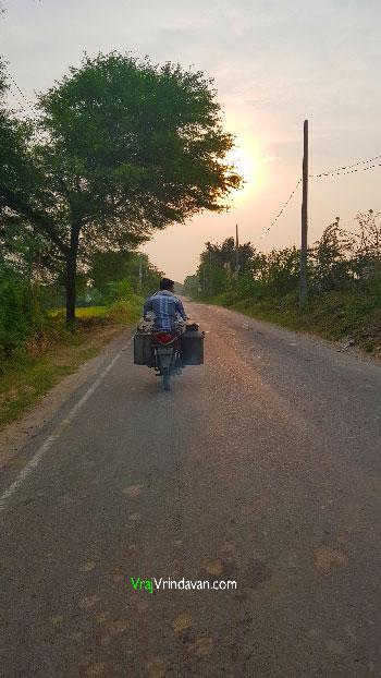 Milkman-driving-in-Vrindavan