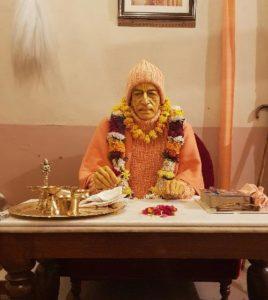 Srila Prabhupada deity at his room at Radha Damodar Mandir, Vrindavan