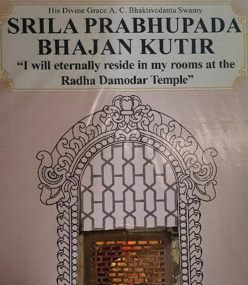 Srila Prabhupada Bhajan Kutir Board