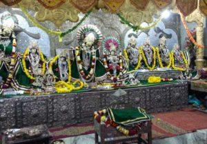 Main altar at Radha Damodar Mandir, Vrindavan