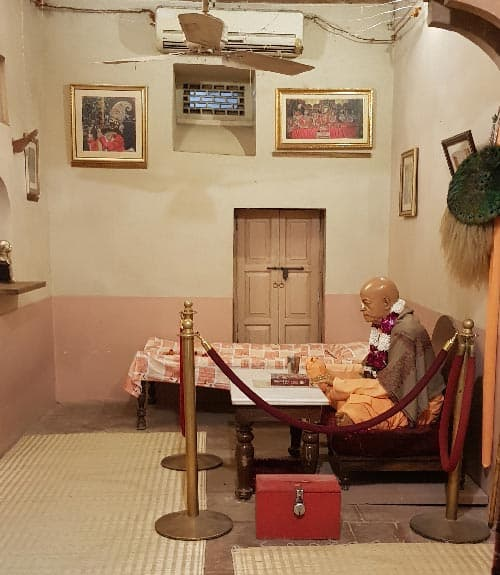 Srila Prabhupada room at Radha Damodar Mandir in Vrindavan