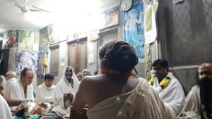 Vinod Vihari Baba leading kirtan in Barsana
