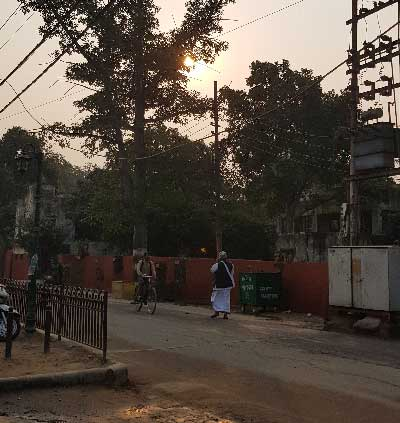 Early Morning at Parikrama Marg in Vrindavan